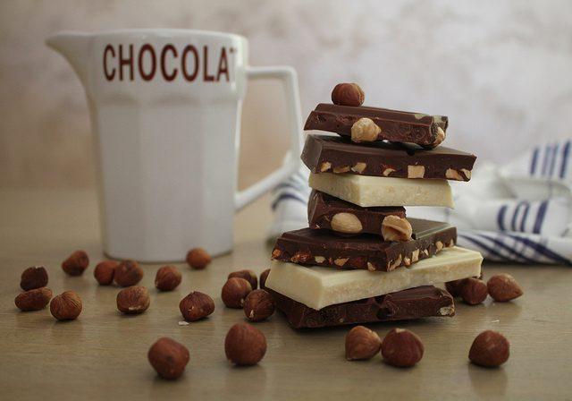 Manger du chocolat en voyage