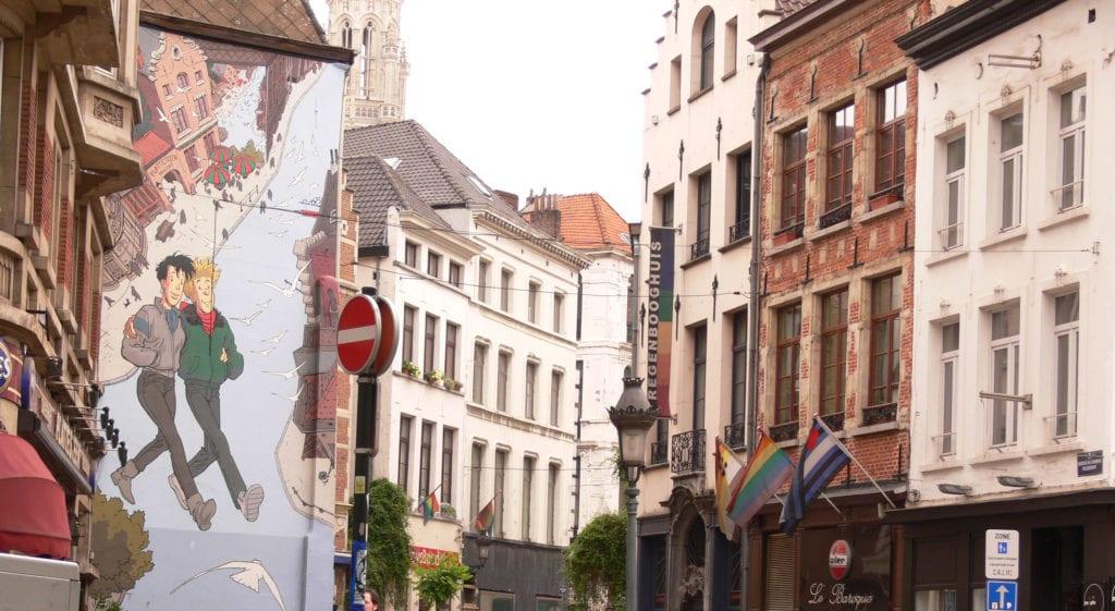 Quartier gay de Bruxelles : rue Marché au Charbon
