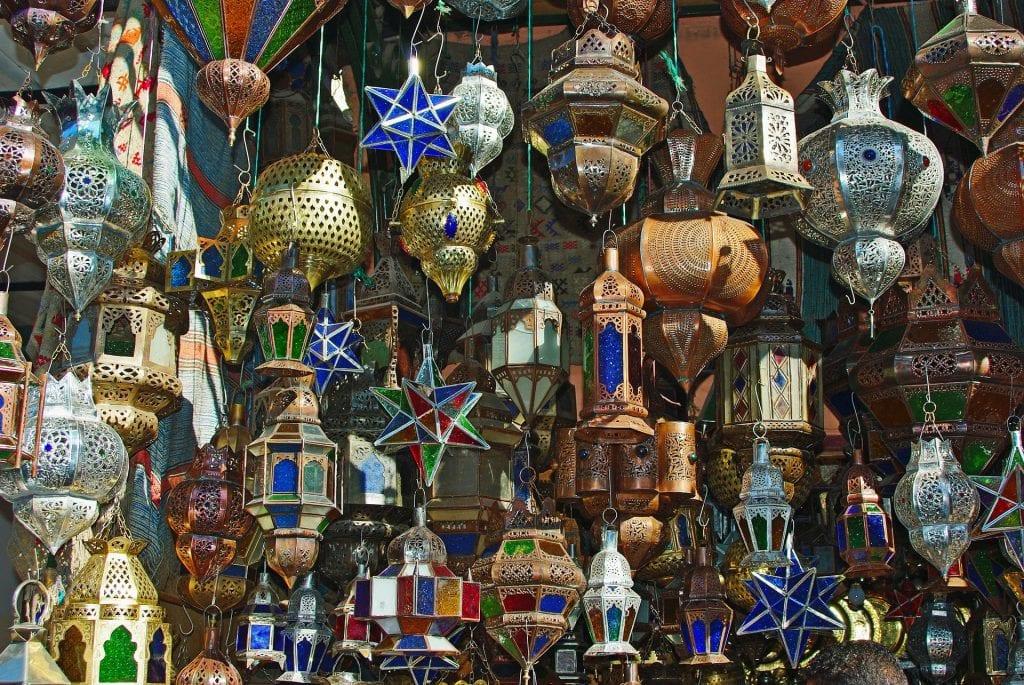 Le marché des Souks à Marrakech