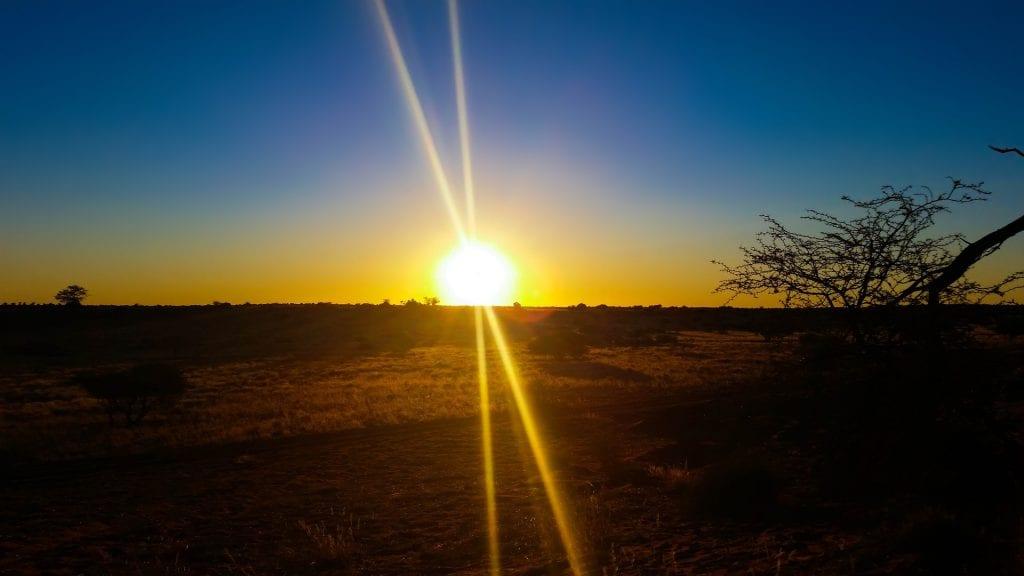 Paysage africain en Namibie