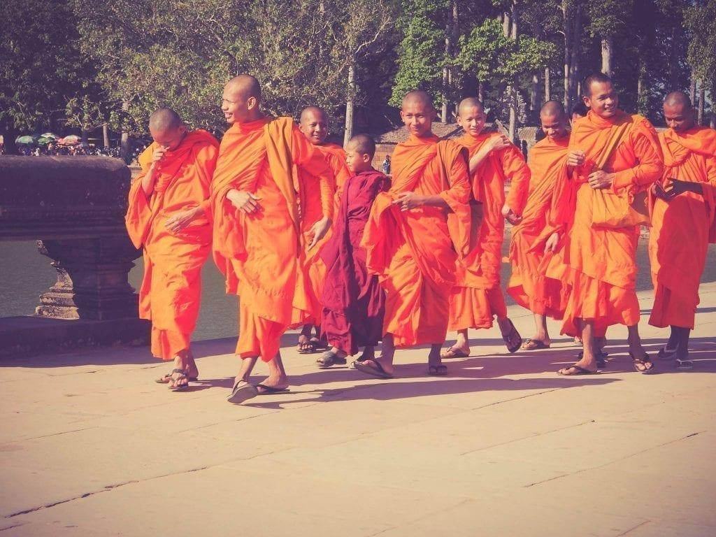 Moines des temples d'Angkor Vat