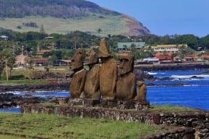 Village Hanga Roa de l'île de Pâques