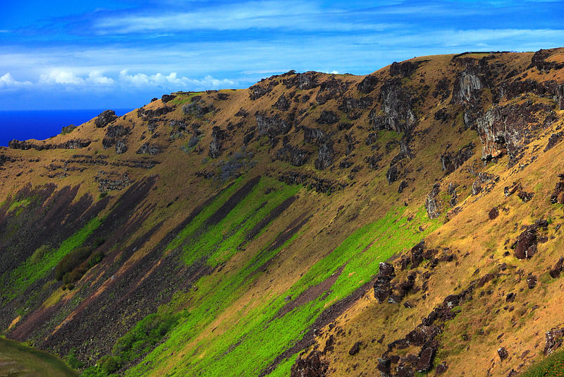 Volcan île de Pâques Rano Kau