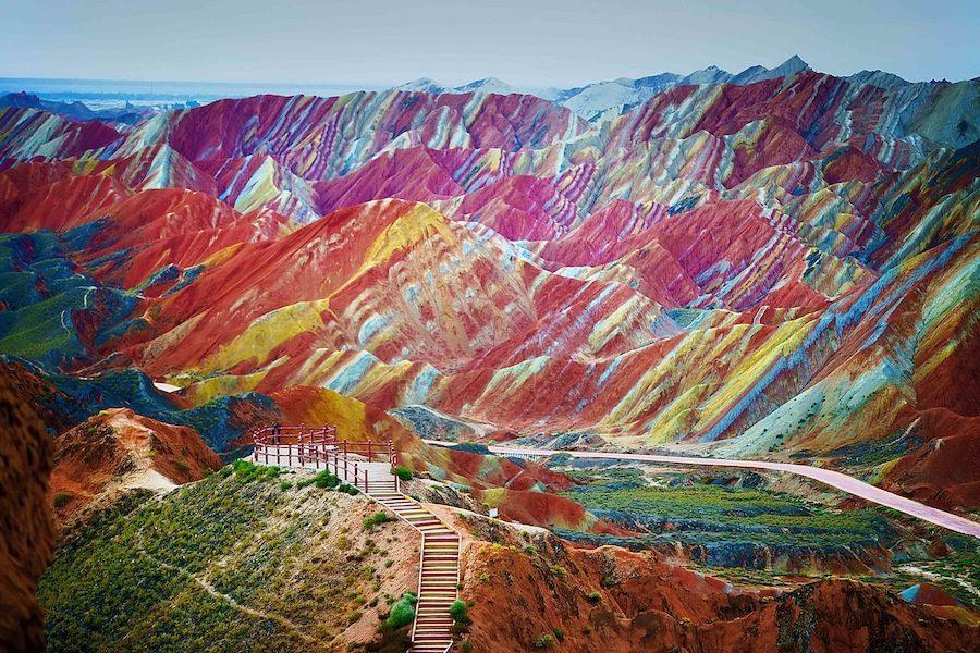 1001 couleurs des monts de Zhangye