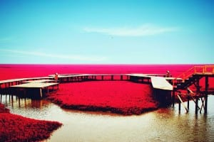 Plage rouge
