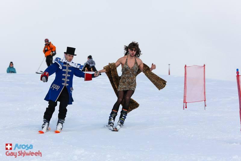 Événement de ski gay à Arosa