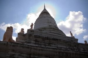 Visite du Wat Phnom à Phnom Pehn
