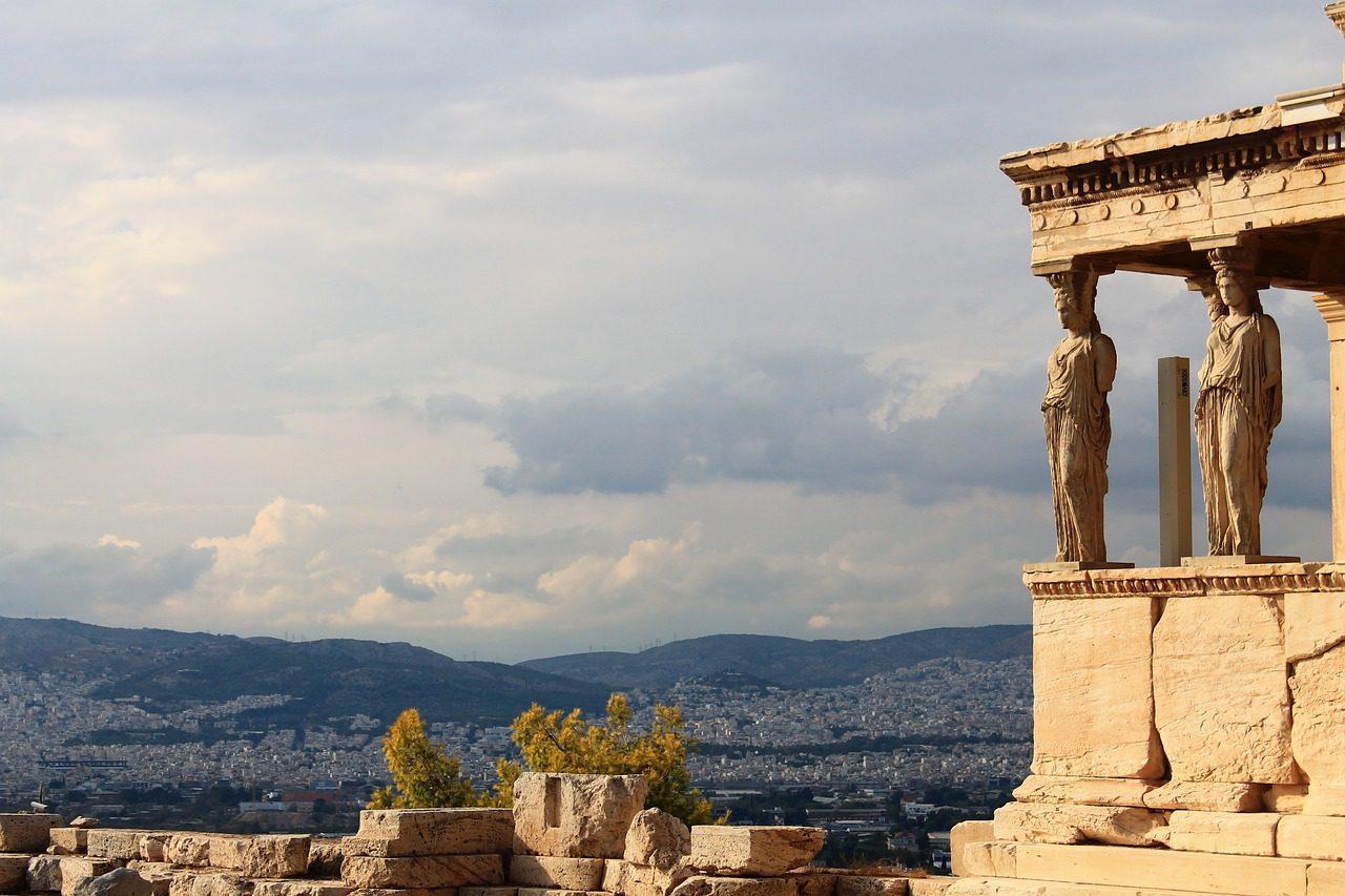 Couches d'histoire à Athènes