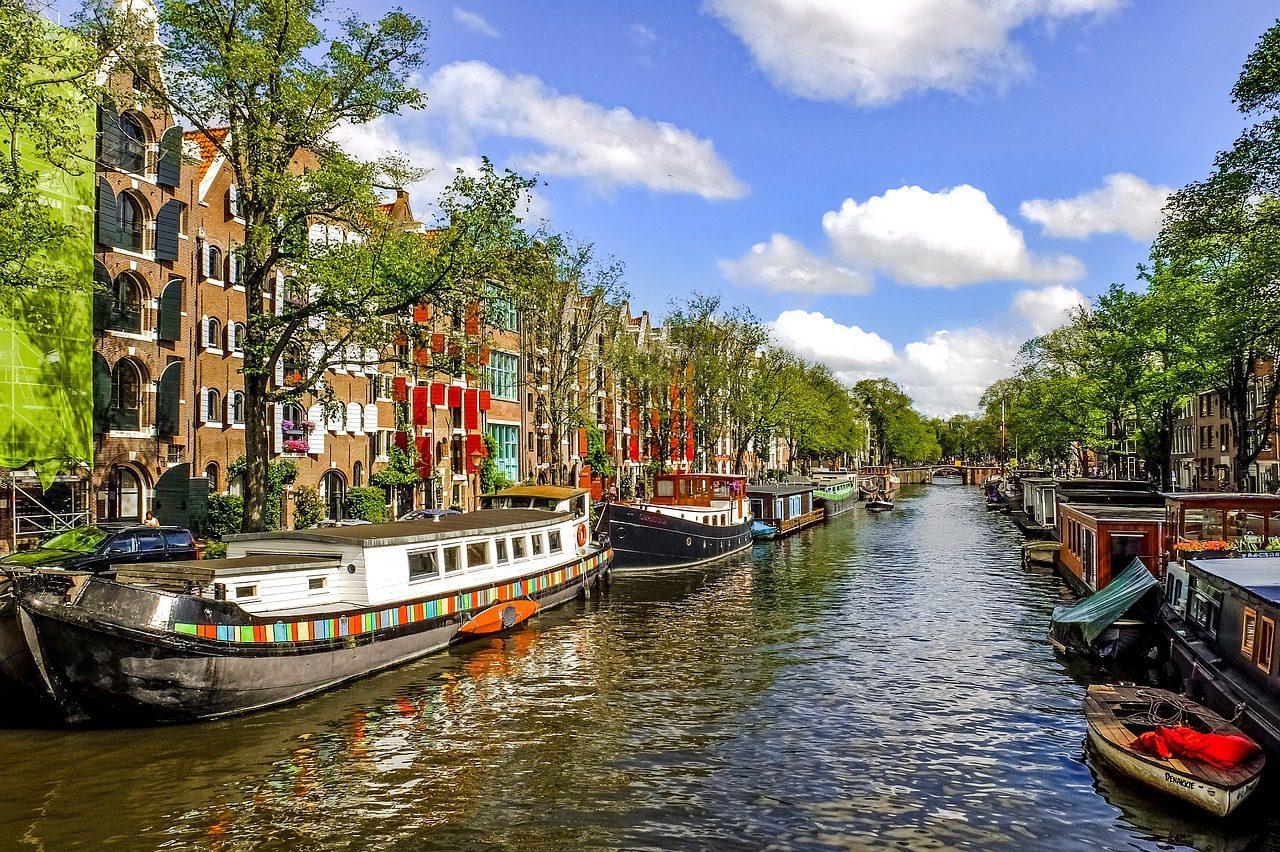 Voyage en vélo et en bateau d'Amsterdam