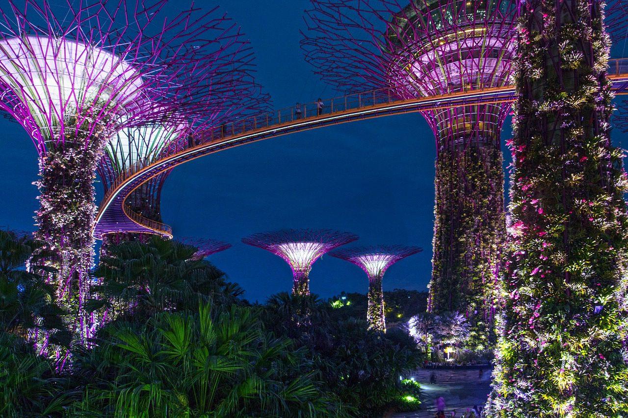 L'île de la fête de Singapour