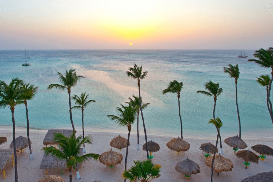 Plage de Palm Beach à Aruba