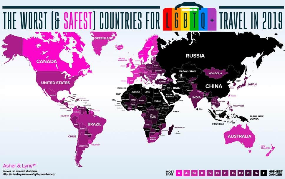 20 endroits les plus dangereux pour les voyageurs gays