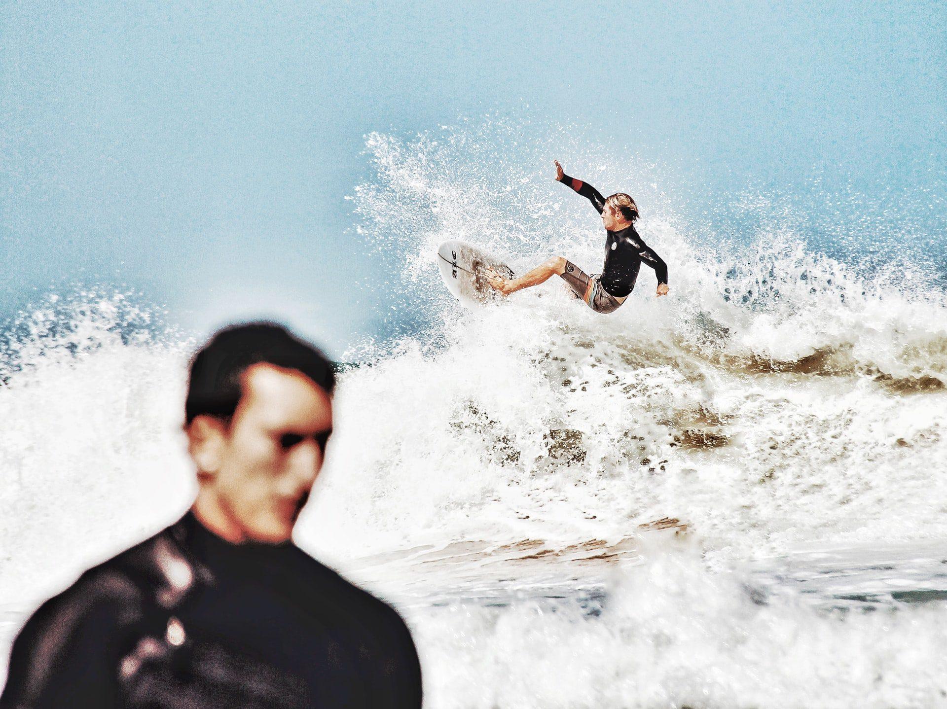 Les surfers de Biarritz