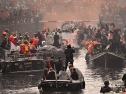 La fête du Queen's Day à Amsterdam