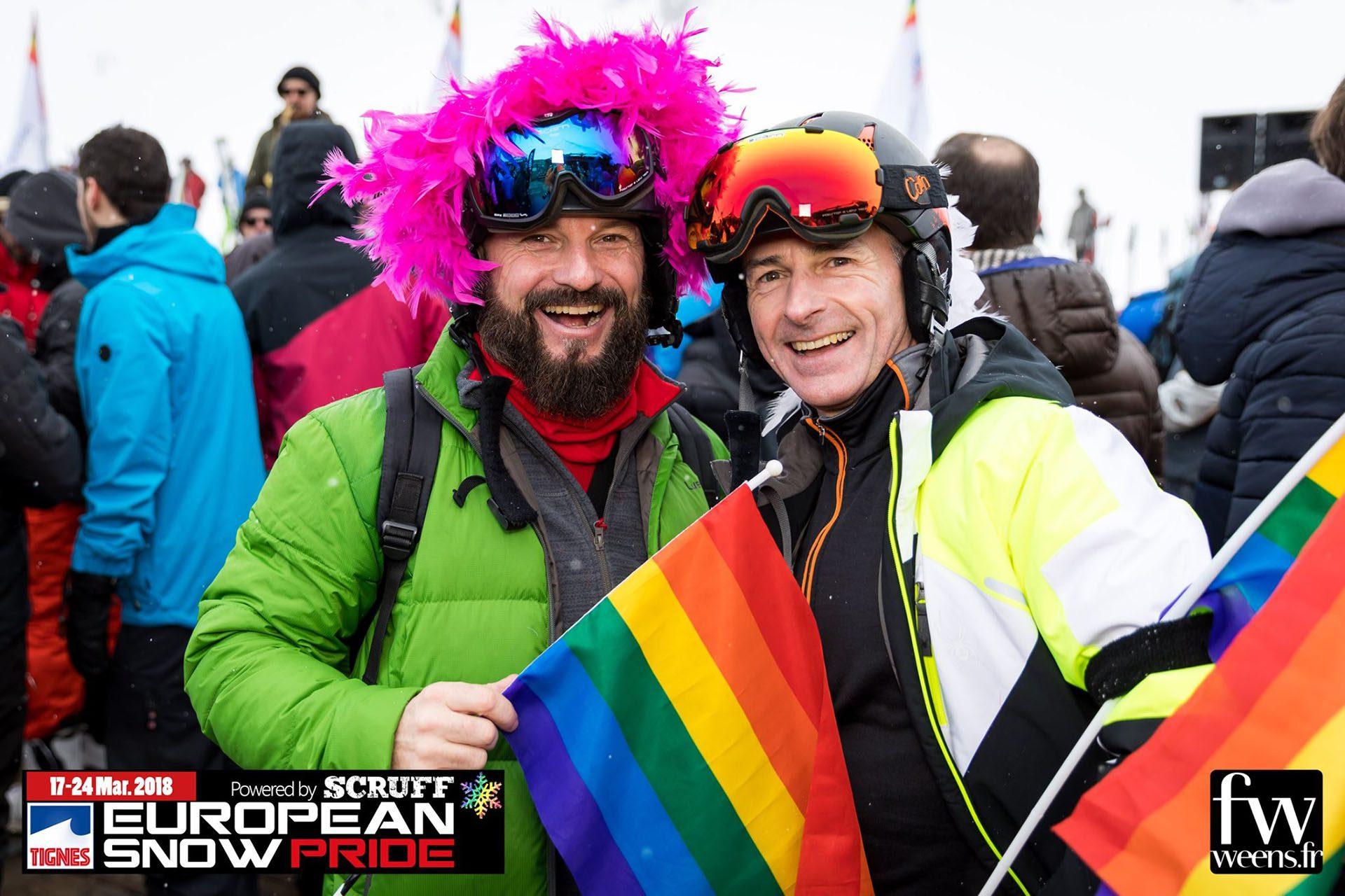 La semaine de ski gay de Tignes, France