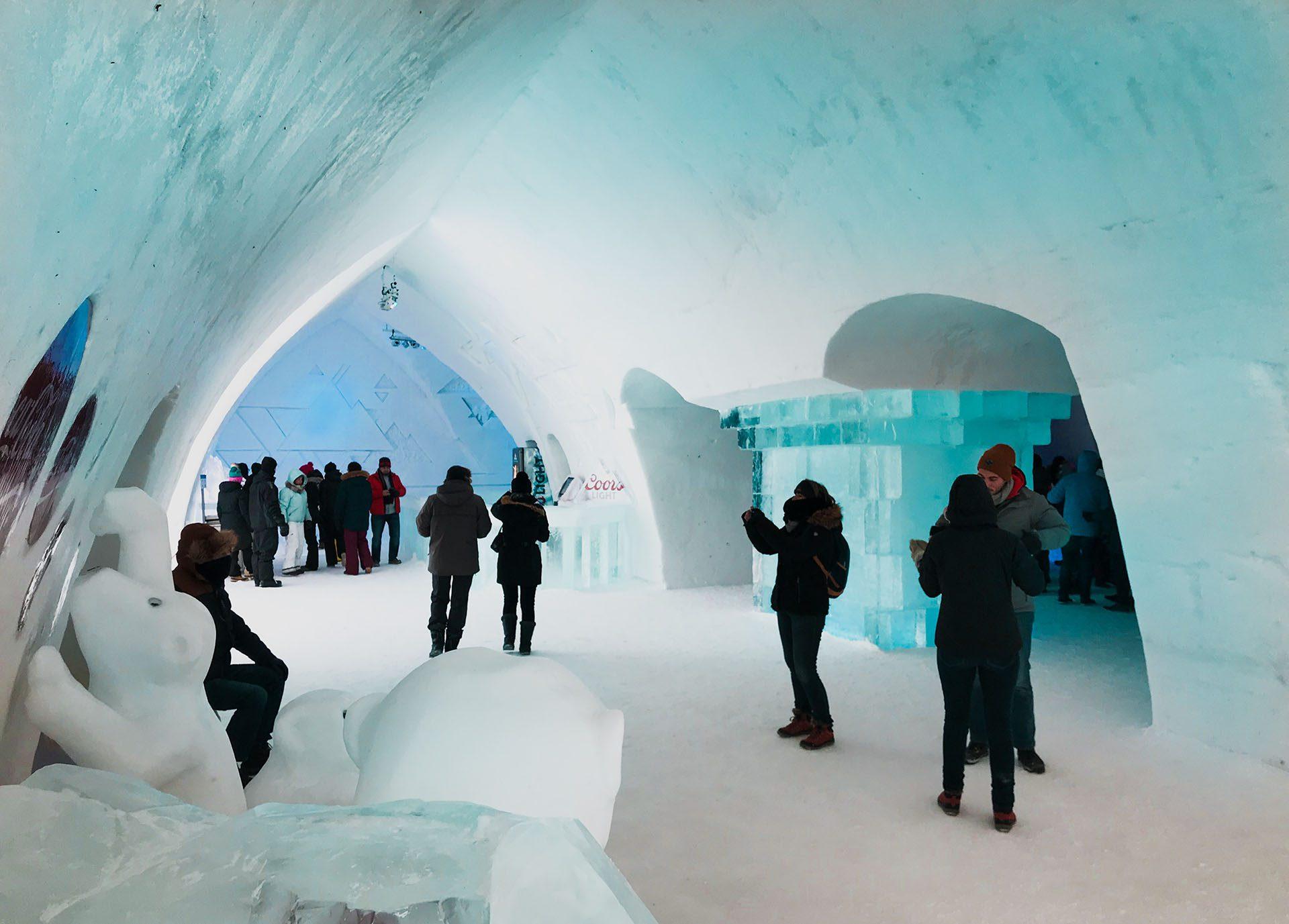 Hôtel gay à Québec : hôtel de glace de la Ville de Québec